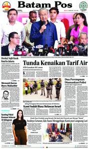 Cover Batam Pos 13 Mei 2018