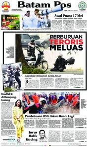 Cover Batam Pos 16 Mei 2018