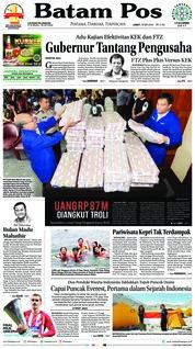 Cover Batam Pos 18 Mei 2018