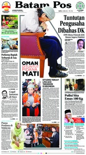 Cover Batam Pos 19 Mei 2018