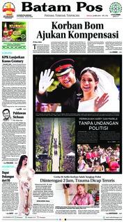 Cover Batam Pos 20 Mei 2018