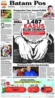 Cover Batam Pos 21 Mei 2018