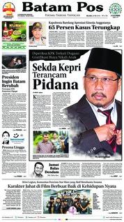 Cover Batam Pos 22 Mei 2018