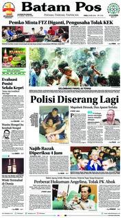 Cover Batam Pos 23 Mei 2018