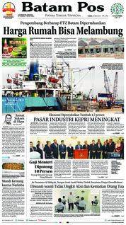 Cover Batam Pos 24 Mei 2018