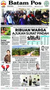 Cover Batam Pos 25 Mei 2018