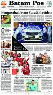 Cover Batam Pos 27 Mei 2018