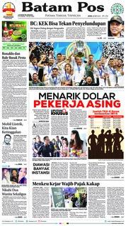 Batam Pos Cover 28 May 2018