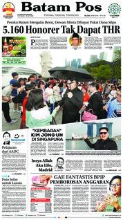 Batam Pos Cover 29 May 2018