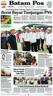 Batam Pos Cover 30 May 2018