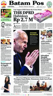 Batam Pos Cover 01 June 2018