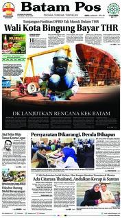 Batam Pos Cover 02 June 2018