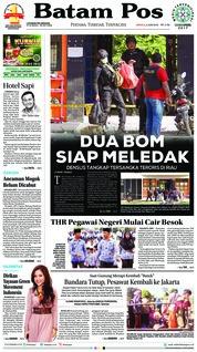 Batam Pos Cover 03 June 2018