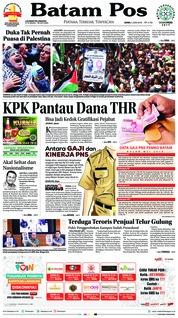 Batam Pos Cover 04 June 2018