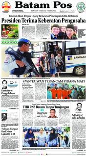 Batam Pos Cover 05 June 2018