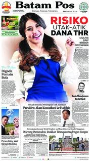 Batam Pos Cover 06 June 2018