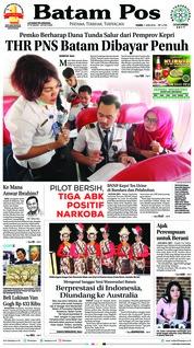 Batam Pos Cover 07 June 2018
