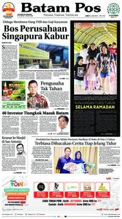 Cover Batam Pos 08 Juni 2018