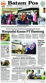 Batam Pos Cover 09 June 2018