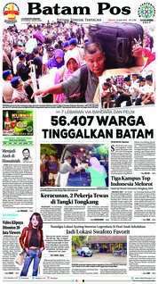 Batam Pos Cover 10 June 2018