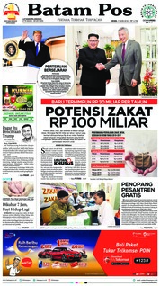 Batam Pos Cover 11 June 2018