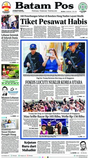 Batam Pos Cover 12 June 2018