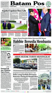 Batam Pos Cover 13 June 2018