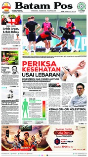 Batam Pos Cover 18 June 2018