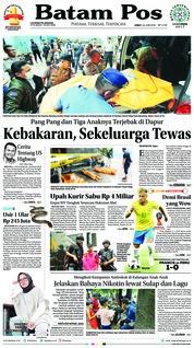 Cover Batam Pos 22 Juni 2018