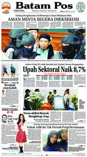 Cover Batam Pos 23 Juni 2018