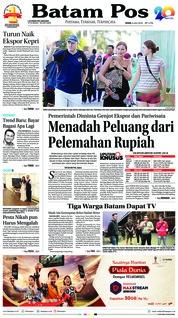 Cover Batam Pos 09 Juli 2018