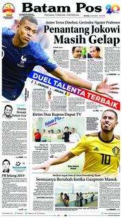 Cover Batam Pos 10 Juli 2018