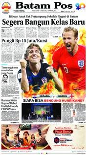 Cover Batam Pos 11 Juli 2018