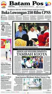 Cover Batam Pos 12 Juli 2018