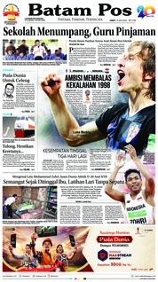 Cover Batam Pos 13 Juli 2018