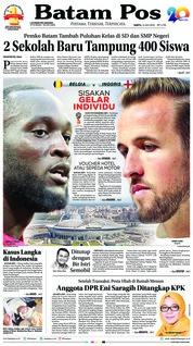 Cover Batam Pos 14 Juli 2018