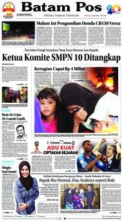 Cover Batam Pos 15 Juli 2018