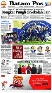 Cover Batam Pos 16 Juli 2018