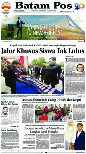 Cover Batam Pos 18 Juli 2018