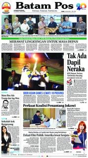 Cover Batam Pos 19 Juli 2018