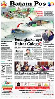 Cover Batam Pos 20 Juli 2018