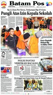 Cover Batam Pos 21 Juli 2018