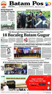 Batam Pos Cover 01 August 2018