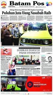 Batam Pos Cover 03 August 2018
