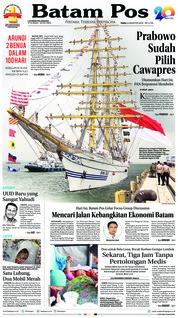 Cover Batam Pos 08 Agustus 2018