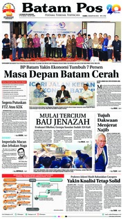 Cover Batam Pos 09 Agustus 2018