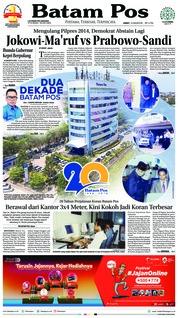Cover Batam Pos 10 Agustus 2018