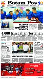Cover Batam Pos 11 Agustus 2018