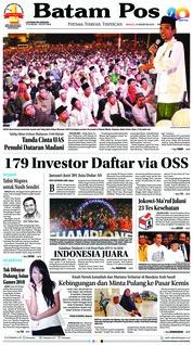 Cover Batam Pos 12 Agustus 2018