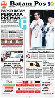 Cover Batam Pos 13 Agustus 2018